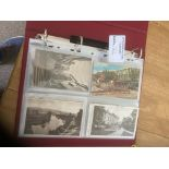 Postcards : Album of cards many Exeter few RP's (5