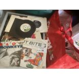 """Records : Large bag of 7"""" singles x250 good mix -"""