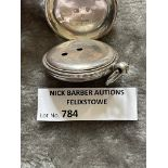 Militaria : 784. Silver Pocket watch in old ve
