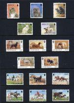 Stamps : Jersey Fine UMM sel. In Hagner Binder a
