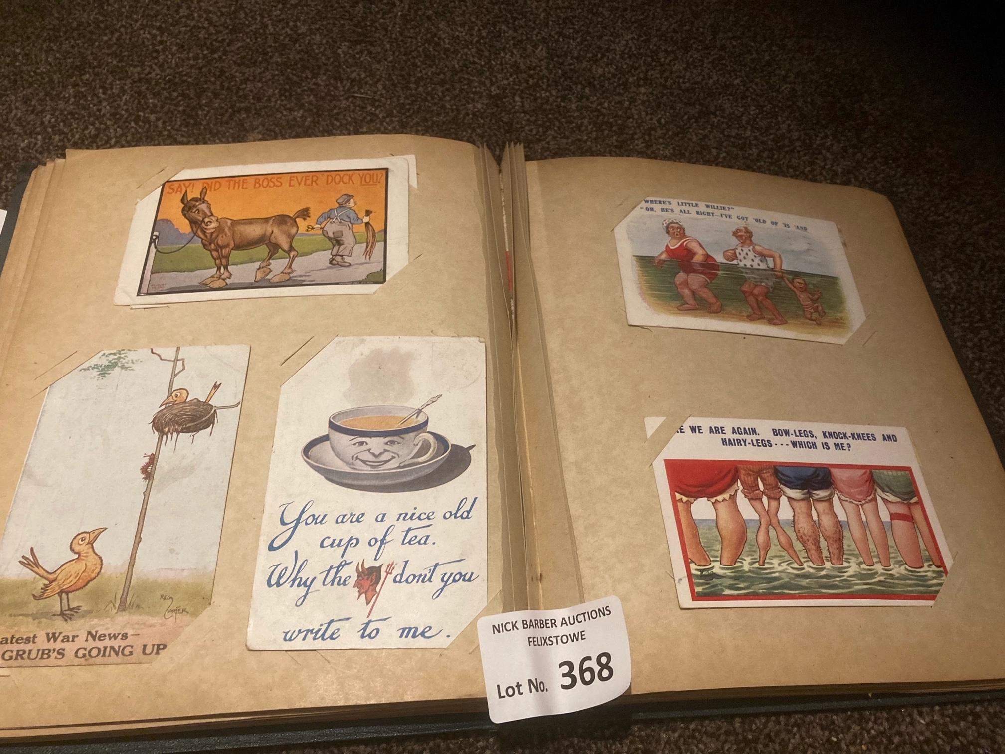 Postcards : 80 comic cards in green album - variou - Image 2 of 3
