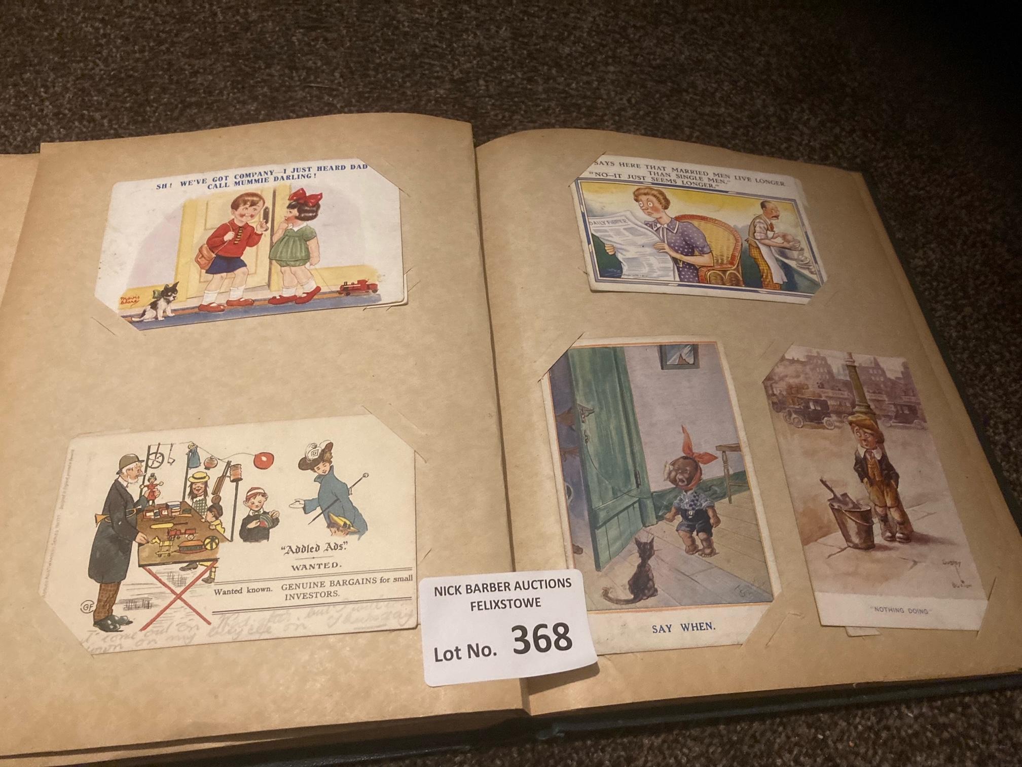 Postcards : 80 comic cards in green album - variou - Image 3 of 3