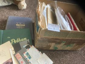 Stamps : Box of albums, pages 1000's on pages WORL