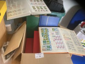 Stamps : Box of stamps/albums inc stockbooks GB Wi