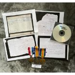 Militaria : 1914 Trio medal group to Gnr C Thar