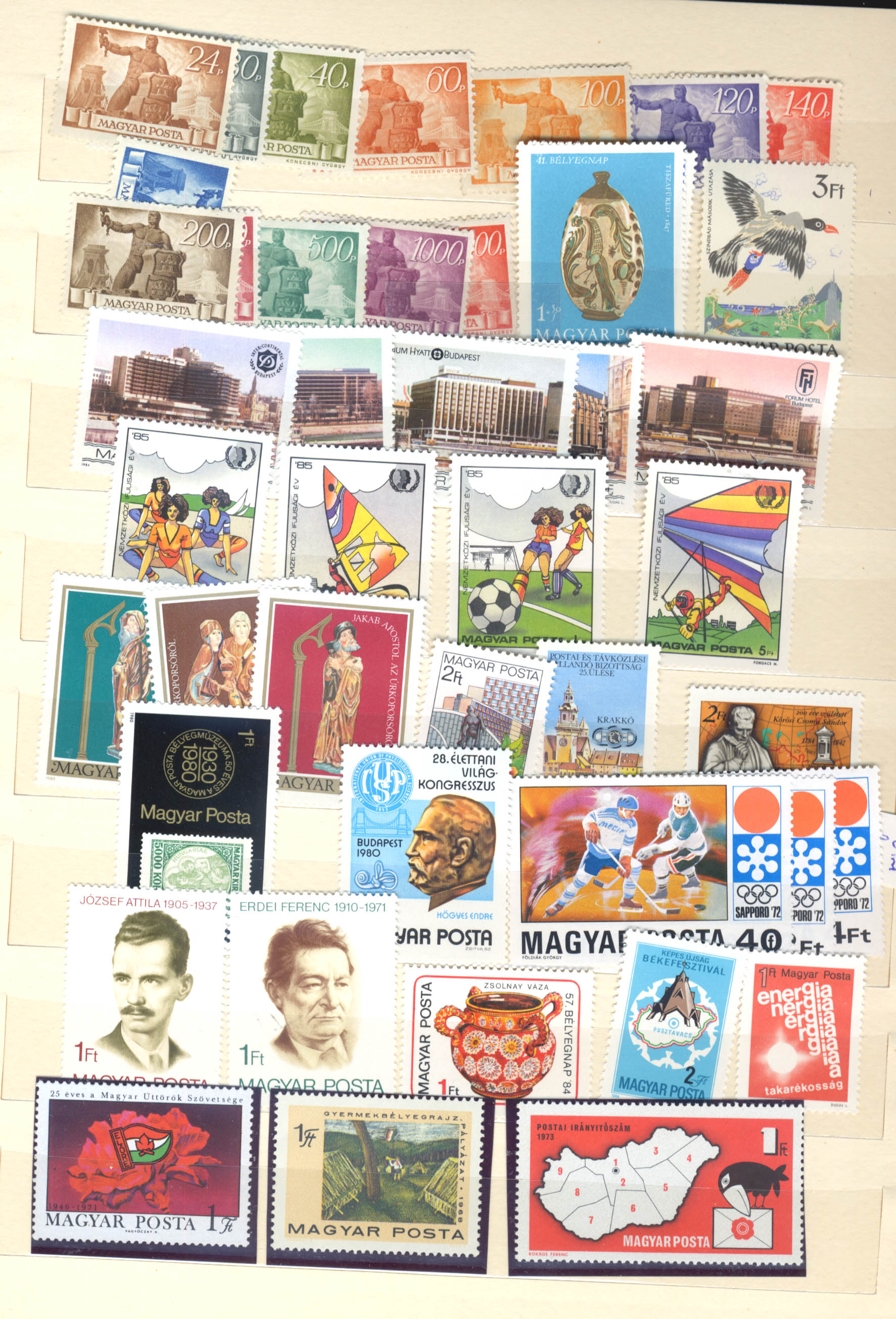 Stamps : Hungary Early to Modern Mint Selection in