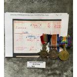 Militaria : Trios medal group to Pte. W Farmer Wor