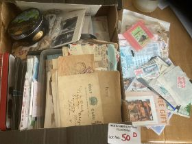 Stamps : Box of various, covers, tubs, packets etc