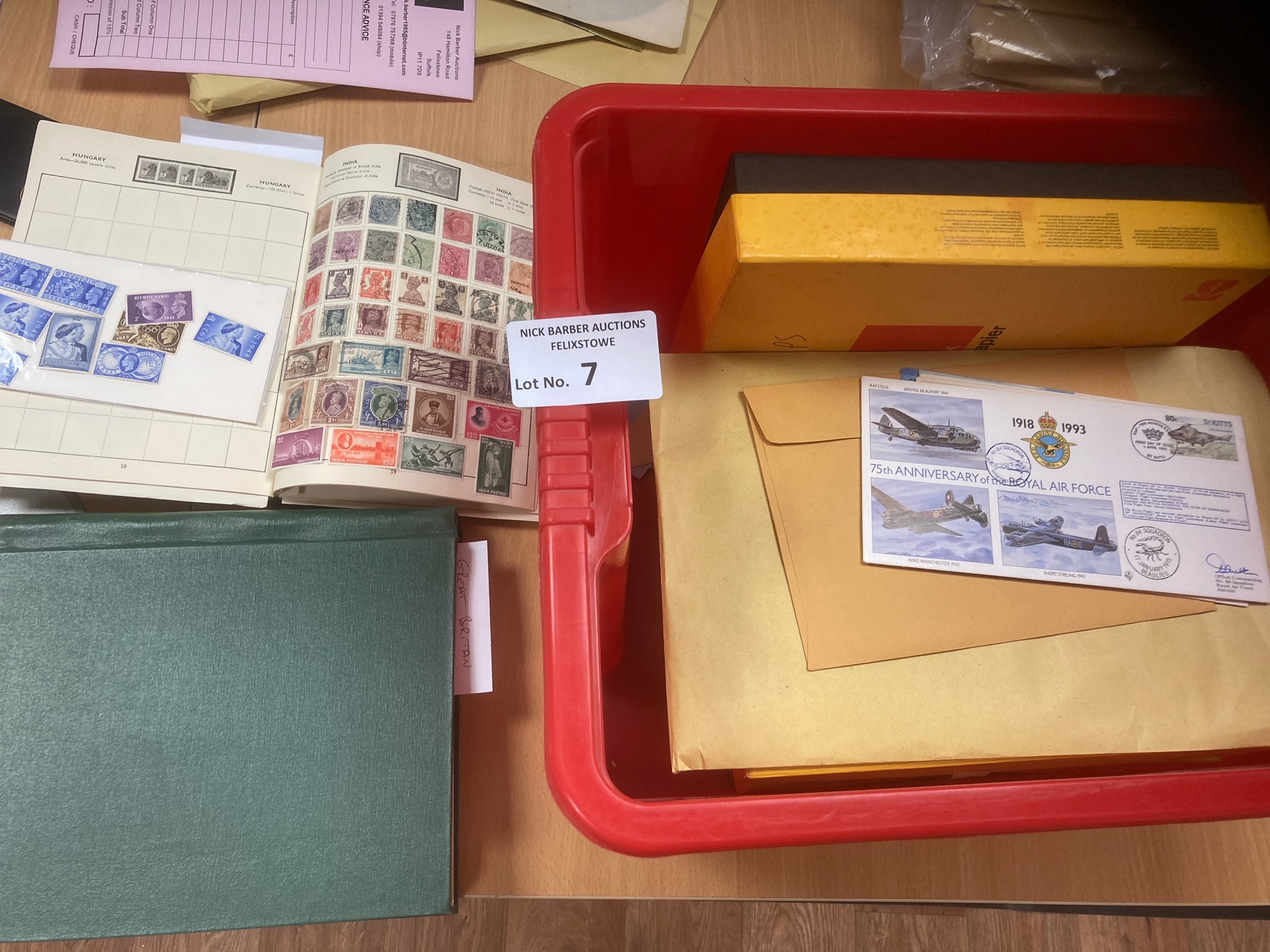 Stamps : Box of 2 albums well filled inc some GB D