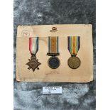 Militaria : 1914-15 Trios Medal group to L/CP Stev