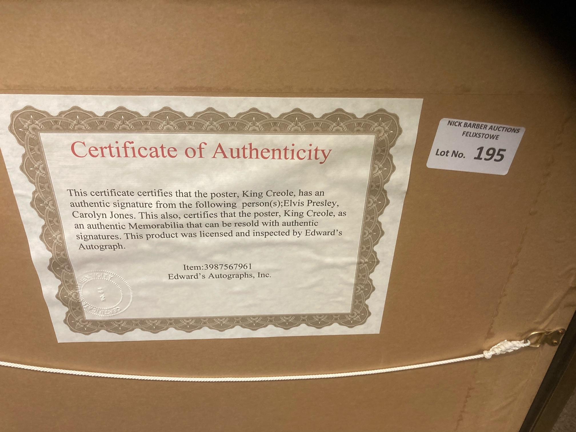 Records : ELVIS PRESLEY signed poster framed/glaze - Image 3 of 3