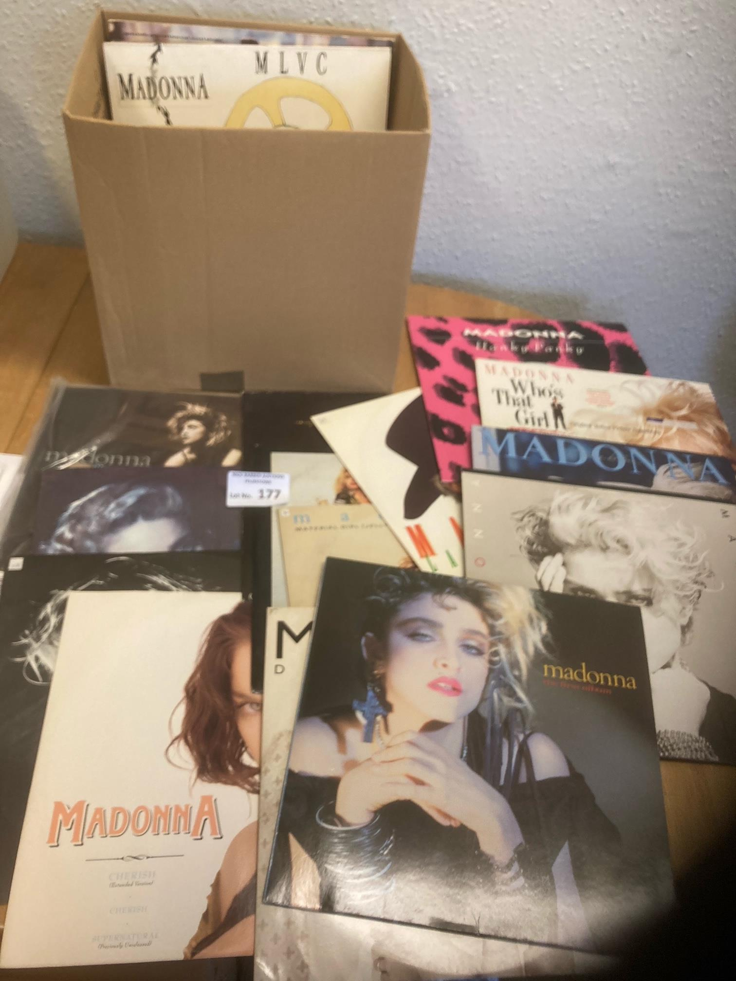 "Records : MADONNA 24 12"" singles & album selection"