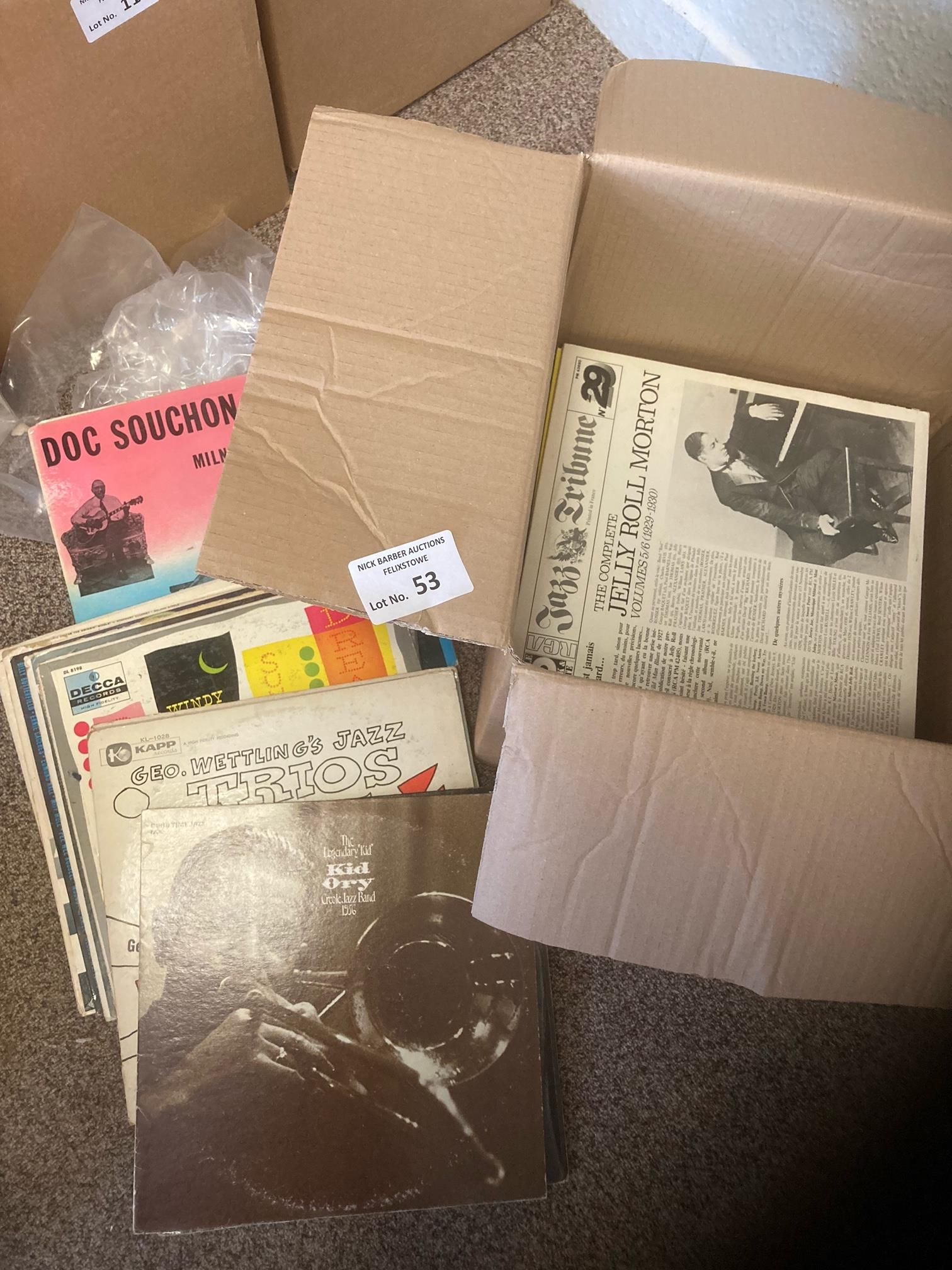 Records : Jazz - collection of 60+ albums in box -