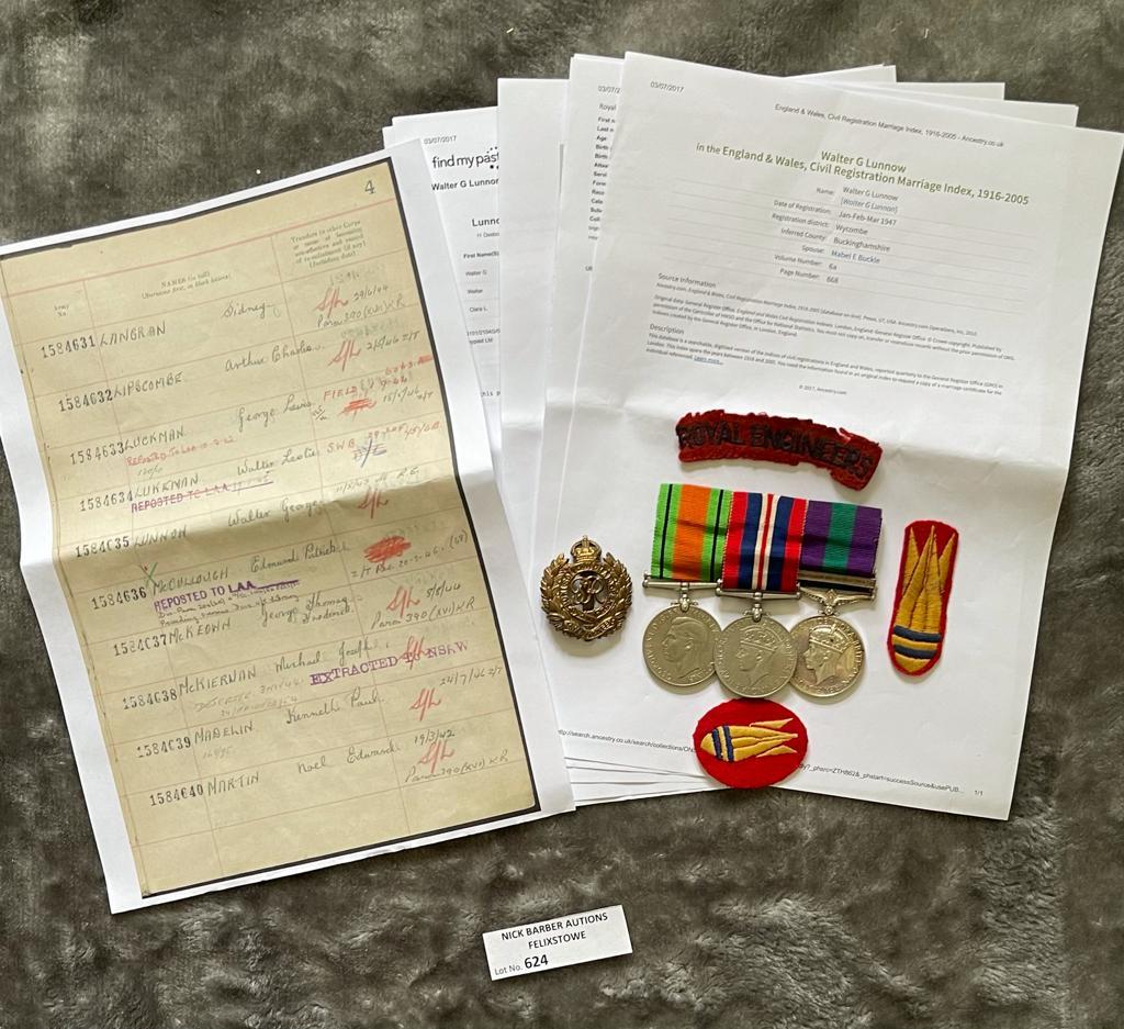 Militaria : 2nd WW Group of 3 to, 5973 RFN. Lakman - Image 3 of 4