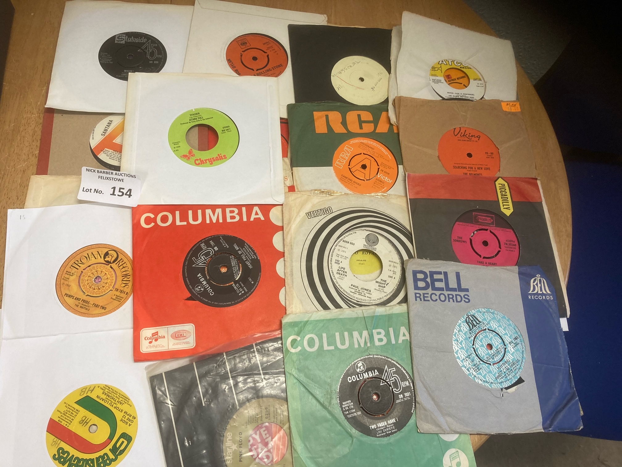 Records : Case of 45's inc many rarities inc Pink