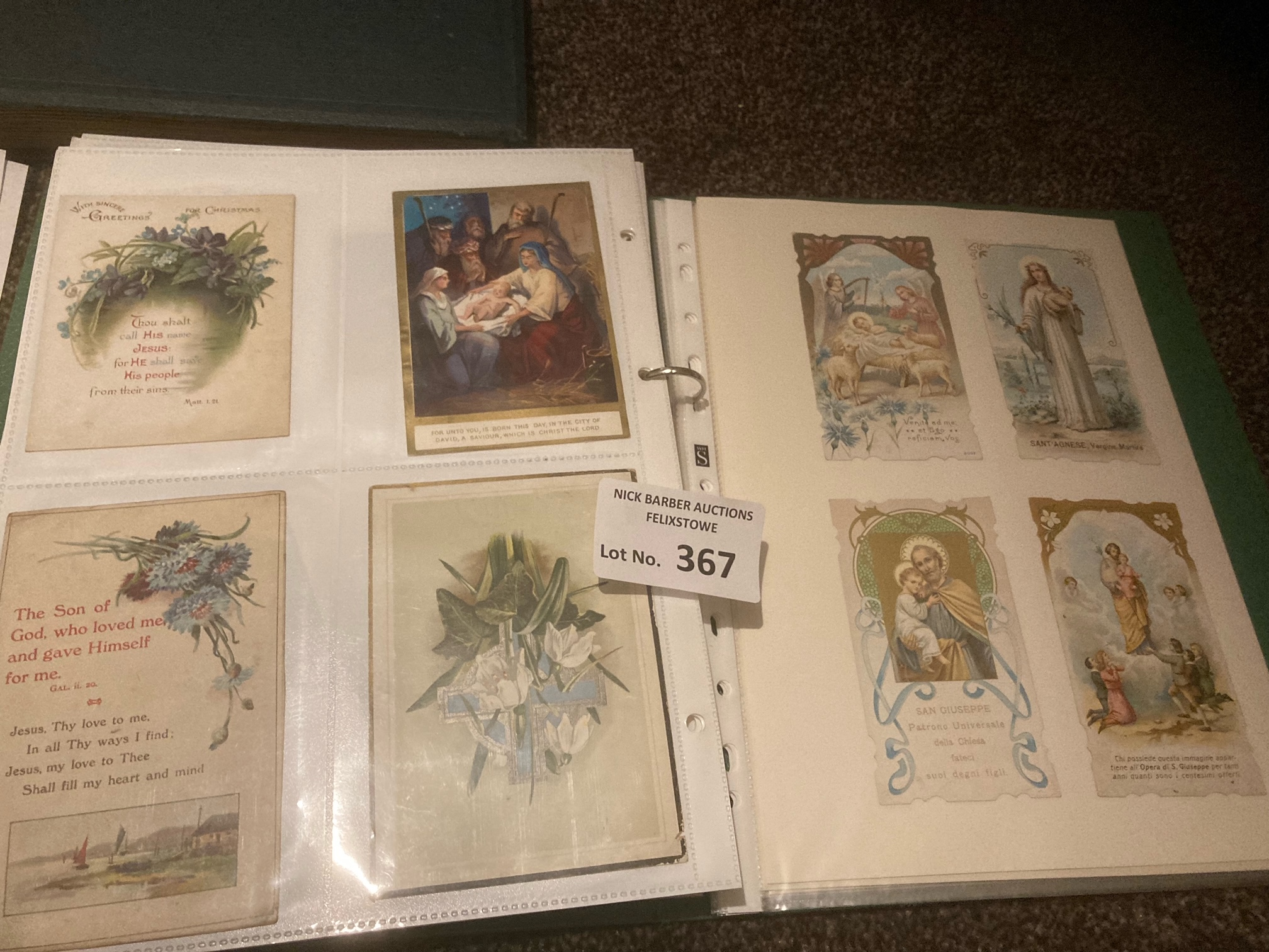Postcards : Albbum of 206 cards - mainly Victorian