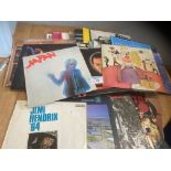 Records : Classic Rock albums box of inc Pink Floy