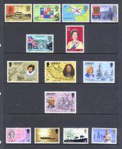 Stamps : Jersey Fine UMM Selection in Hagner Binde