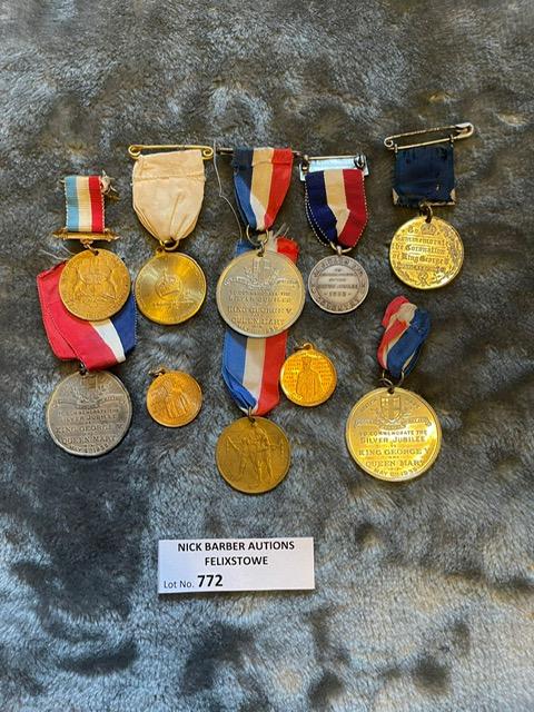 Militaria : 10x George V Coronation and Jubilee me - Image 2 of 2