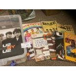 Records : Various music books some heavy inc Beatl