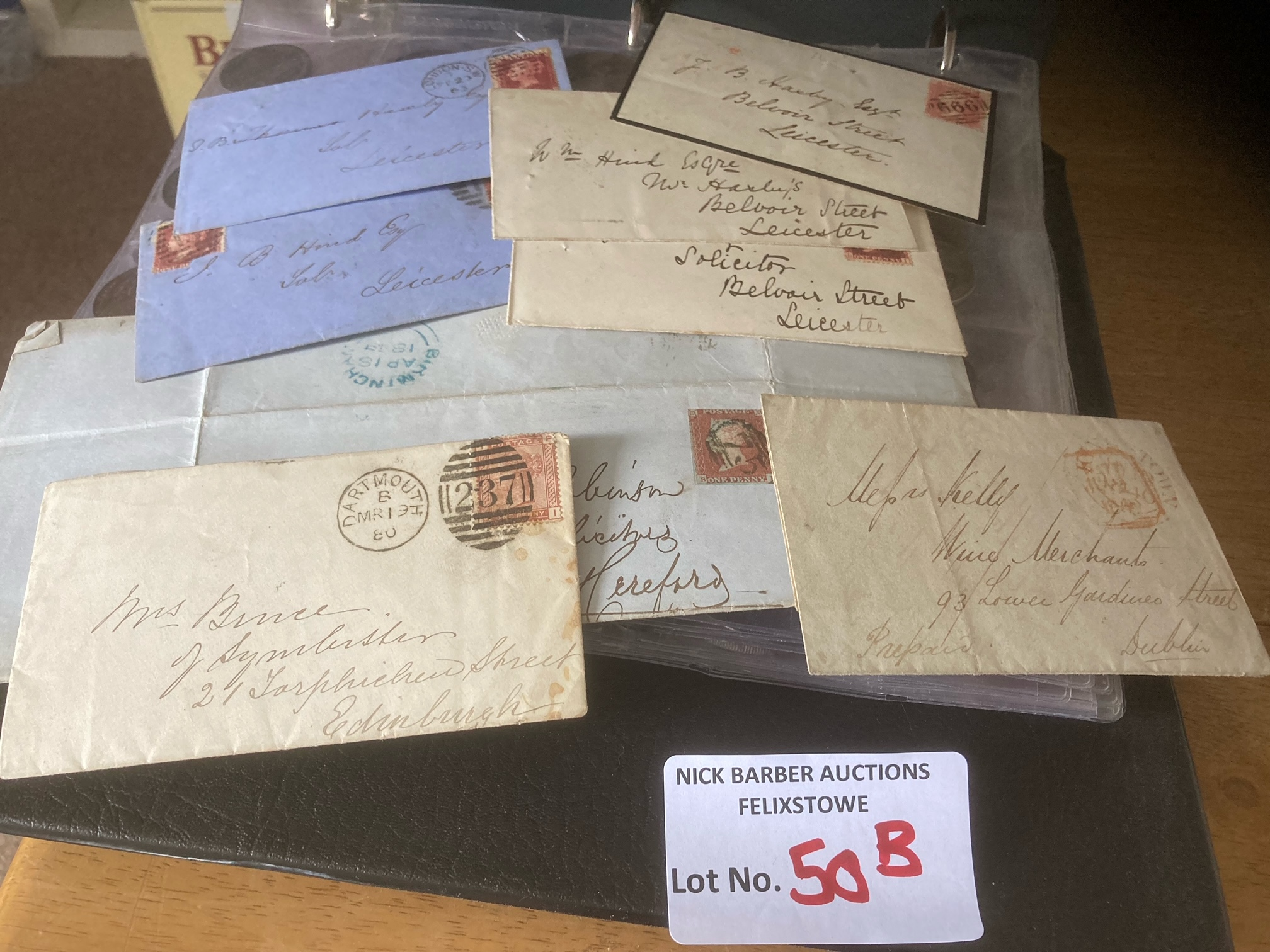 Stamps : Nice album of GB early reds & some HV's - - Image 3 of 5