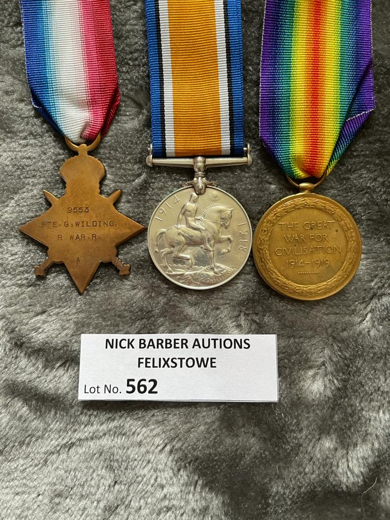 Militaria : Trios medal group to Pte. G Wilding R - Image 2 of 2