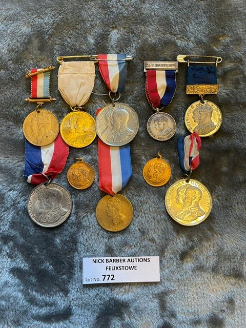 Militaria : 10x George V Coronation and Jubilee me