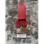 Militaria : 2x Belgium faithful service medals in