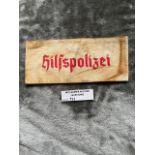 Militaria : German Armband, hilfspolizei. Stamped