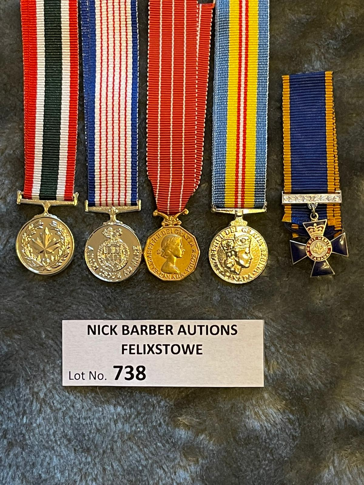 Militaria : Selection of 5 miniatures - Image 2 of 2