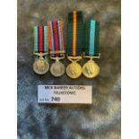 Militaria : Selection of 4 miniatures