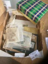 Stamps : Glory box, stamps, covers, packets, loose