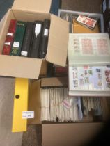 Stamps : 3 large boxes of CHANNEL Islands - includ