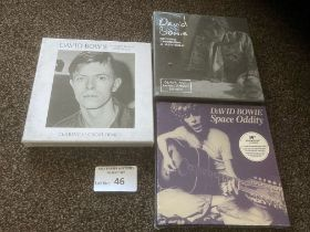 "Records : DAVID BOWIE - 7"" box sets modern inc Spa"