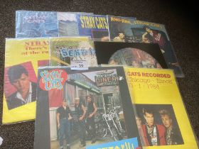 Records : STRAY CATS - collection of 9 albums - in