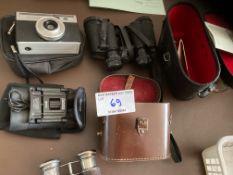 Binoculars : Various sets within cases plus vintag