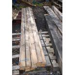 "22 lengths of timber 3"" x 1 1/2"" x 9' long."