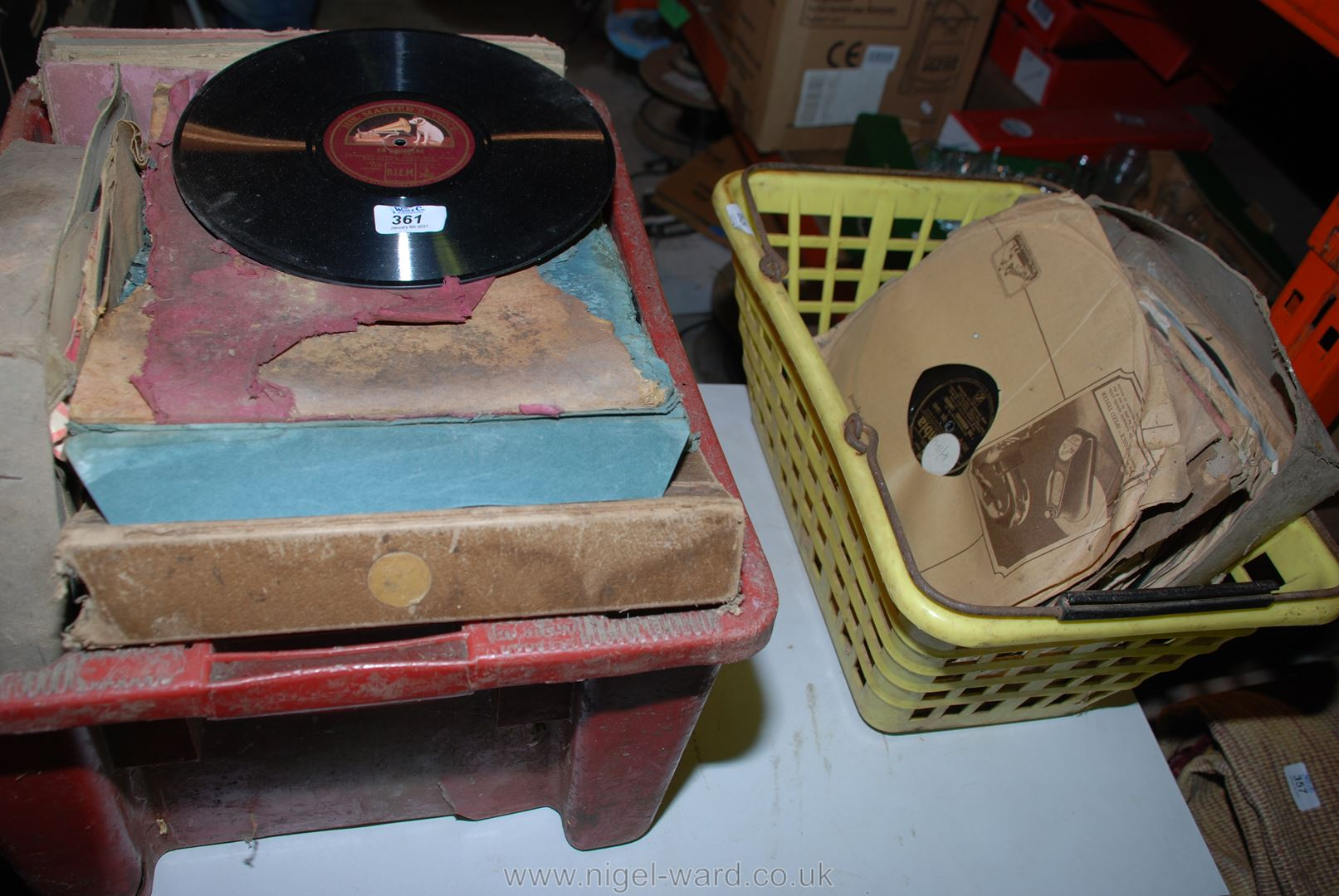 A large quantity of various gramophone records.