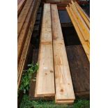 Four lengths of timber 7'' x 2'' x 114'' and 7'' x 2'' x 78''.