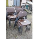 14 plastic children's stacking chairs