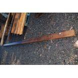 Softwood beam 5'' x 4'' x 19' long.