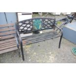 Metal garden bench, ,50'' long,