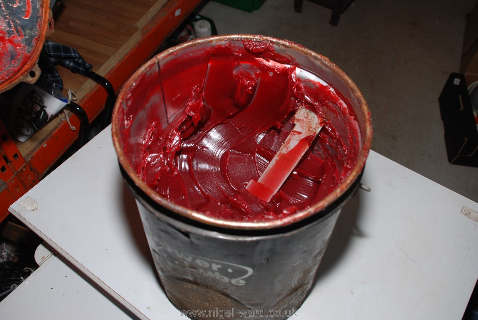 "A tub of ""Powerlube"" grease. - Image 2 of 2"
