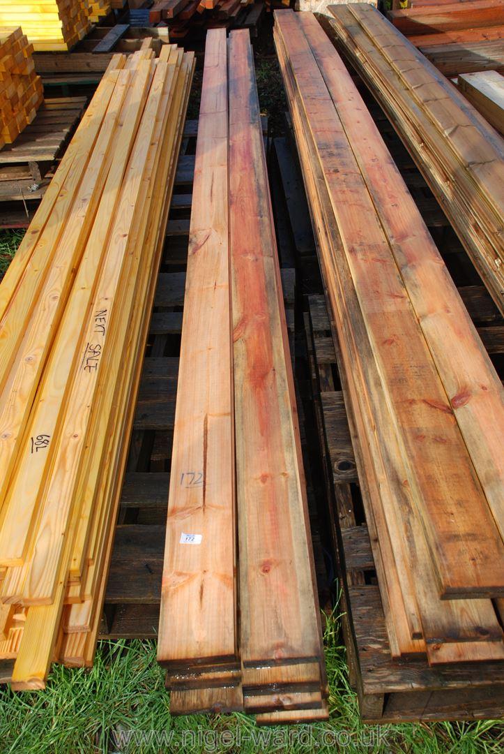 20 lengths of board 5'' x 1/2'' x 177'' long.