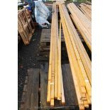 Ten lengths of batten 1'' x 3/4'' x 18' long.