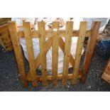 Single wooden garden gate 3' x 3'.