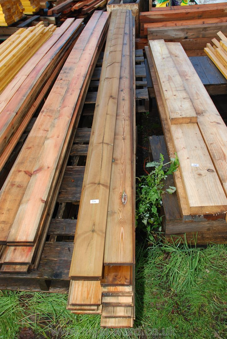 15 lengths of untreated matchboard 5'' x 3/4'' and seven lengths of treated 165'' long.