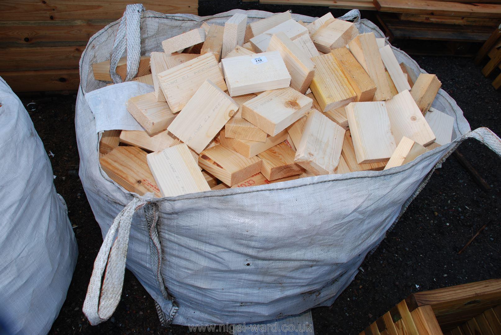 Bag of softwood logs.