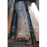 Seven lengths of Oak 6'' x 1'' and up to 100'' long.