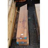 Three pieces of Oak timber 7 1/2'' x 3'' x 41'' long.